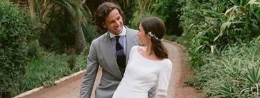 Feliciano López y Sandra Gago ya son marido y mujer. Así ha sido el vestido y las joyas de la novia