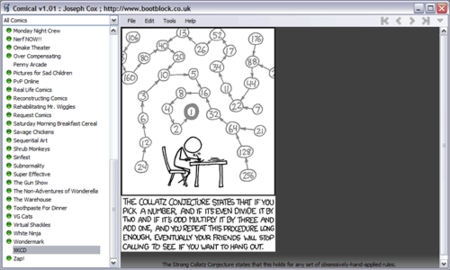 Comical: vista de la tira XKCD