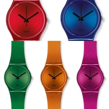 relojes swatch glitter