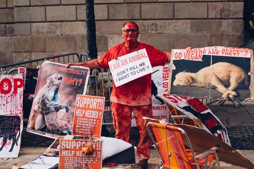 Dos detenidos en un ataque de activistas veganos a un carnicero que vendía carne ecológica en París