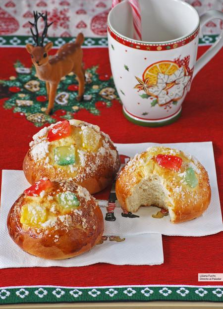 Roscón de Reyes en forma de bollos individuales: receta de Navidad