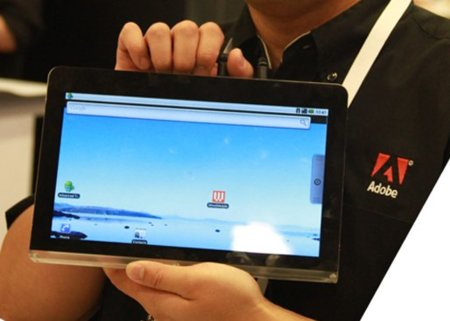 Adobe incorpora una tablet Android para sus demostraciones Flash y Air