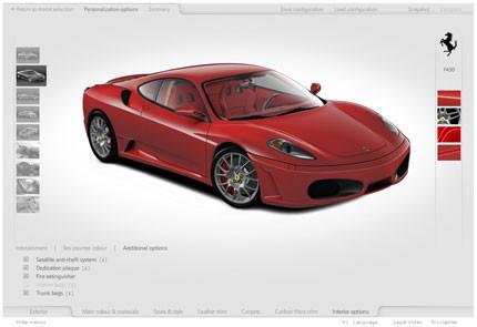 Ferrari Car Configurator