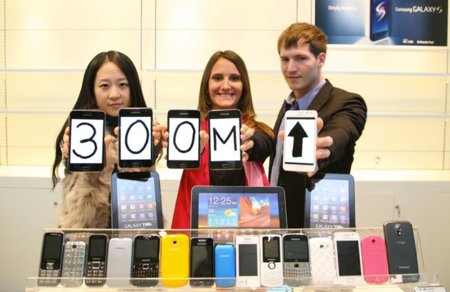 Samsung vende 300 millones de teléfonos móviles en 2011