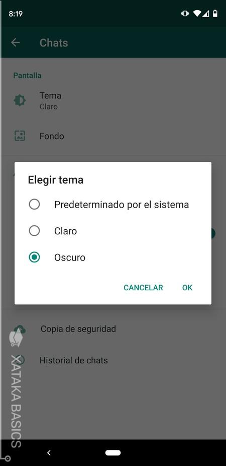 Elige Tema Whatsapp