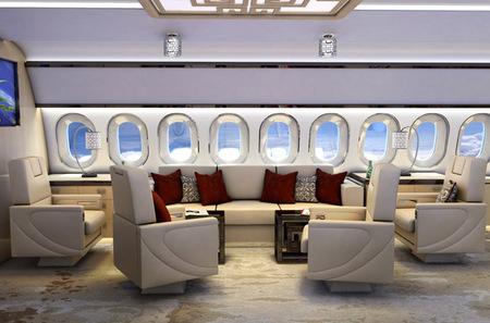 Salón jet privado chino