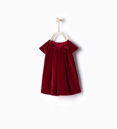 Vestido Zara De Terciopelo Rojo