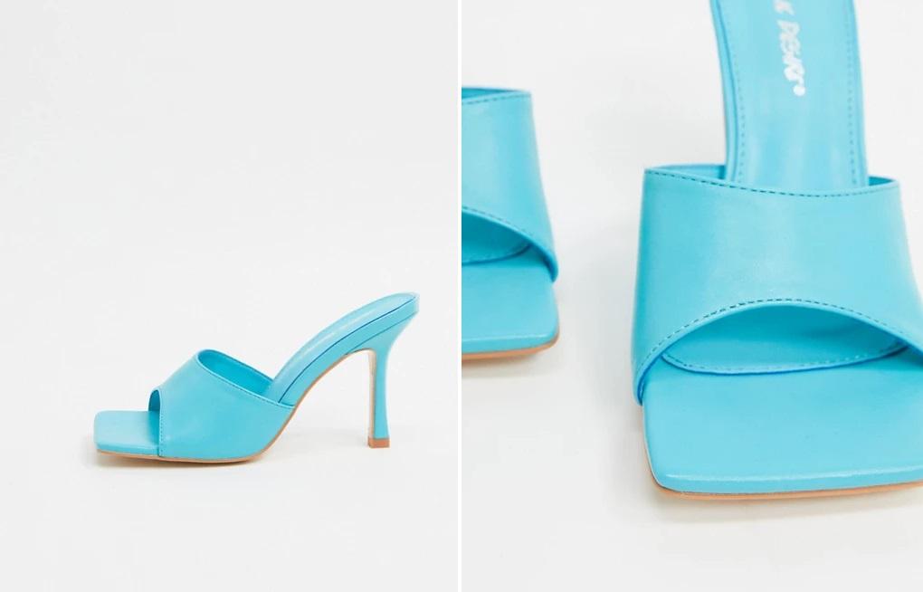 Sandalias mule en azul intenso