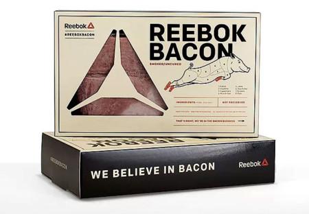 ¿Y si una marca deportiva te ofreciese bacon? Sí, Reebok lo hace