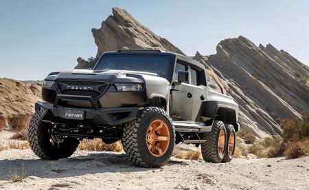 La Rezvani Hercules 6x6 es una brutal pick-up de seis ruedas y más de 1.300 CV que no es precisamente barata