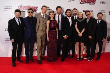 """Los superhéroes se nos van de chupipandi en la premiere de Londres de """"The Avengers: Age of Ultron"""""""