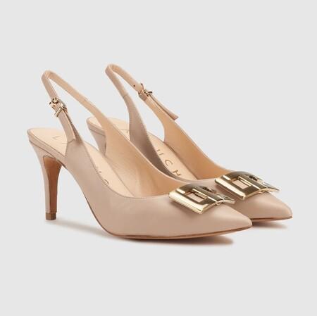 Zapatos de salón de mujer Latouche destalonados con adorno metálico