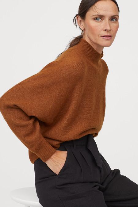 Jersey Basico De Cuello Alto Mujer