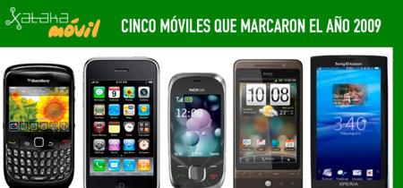 Cinco móviles que marcaron el año 2009