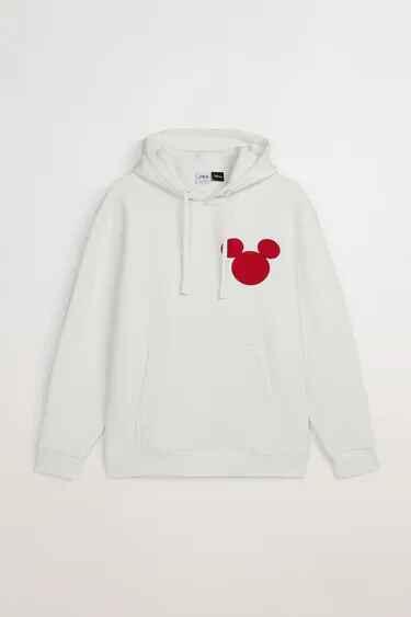 Sudadera blanca con logo de Mickey Mouse