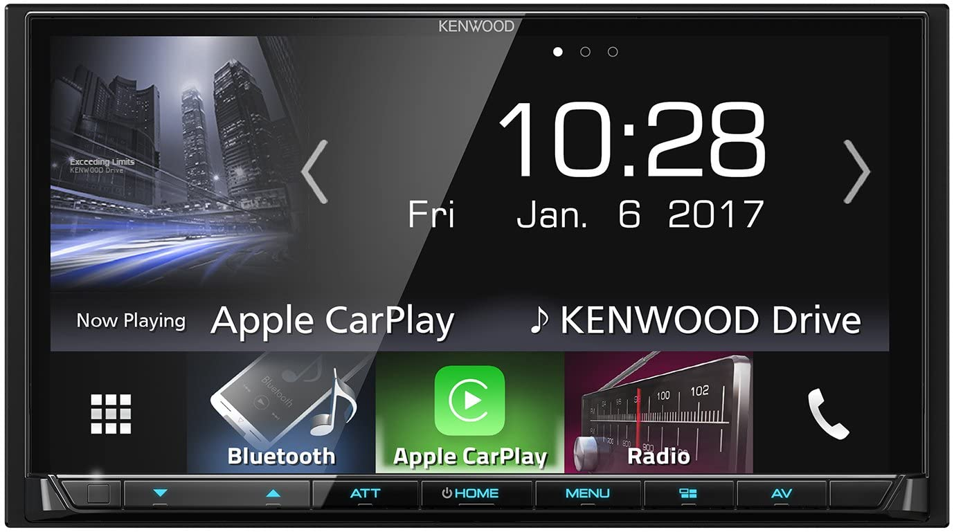 "Kenwood Electronics DMX7017BTS 200W Bluetooth Negro Receptor Multimedia para Coche - Radio para Coche (Am,FM, 87,5-108 MHz, 153-279 kHz, 17,6 cm (6.95""), 800 x 480 Pixeles, Negro)"