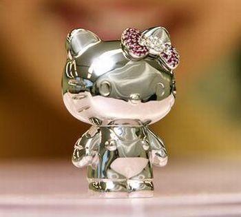 Hello Kitty Platinum Miniature