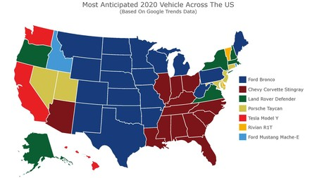 Most Anticipated 2020 Cars Map