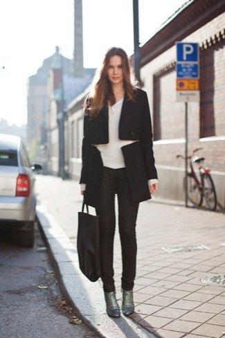 Estilo de Caroline Blomst abrigo