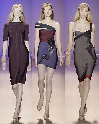 Herve Leger en la Semana de la Moda de Nueva York otoño-invierno 2008/09