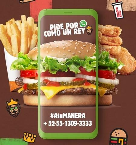 Ahora podrás hacer tus pedidos de Burger King desde WhatsApp, te decimos cómo