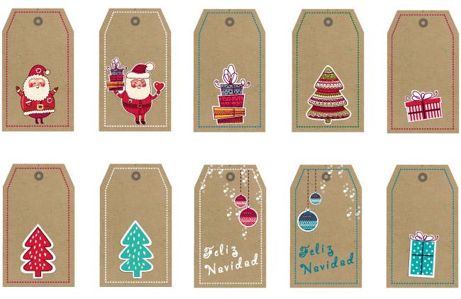 Tarjetas de navidad imprimibles para los regalos - Postales de navidad con fotos de ninos ...