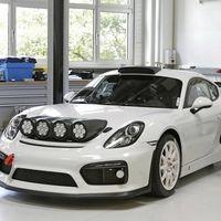 Porsche adelanta en estas imágenes un posible coche de rallies basado en el Cayman GT4 Clubsport