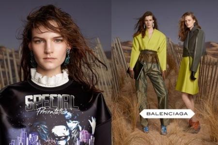 Balenciaga campaña Otoño-Invierno 2012/2013: las chicas McFly regresan del futuro