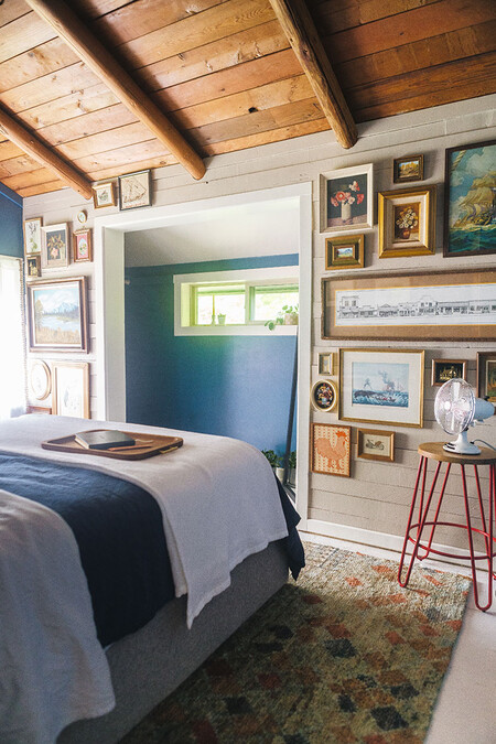 Cabin Guest Bedroom Makeover Reveal Bhg Walmart Jojotastic 35