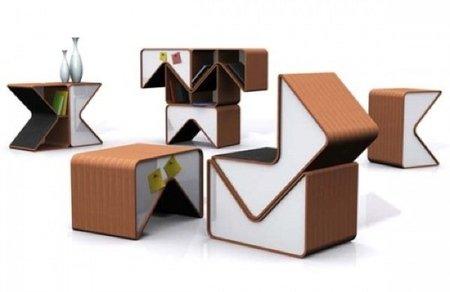Crea tus propios muebles con los módulos Pacman
