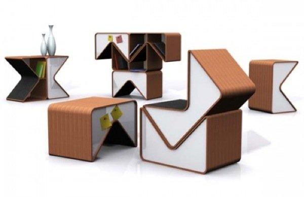 Crea tus propios muebles con los m dulos pacman for Muebles de modulos