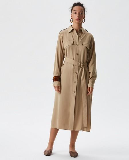 Vestido de mujer midi con cinturón