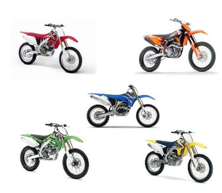 450 GP, motos originales