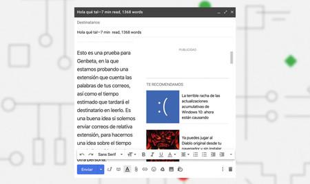 Gmail Contador De Palabras