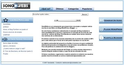 Sonowebs, convirtiendo los contenidos de textos de los blogs en contenido de audio