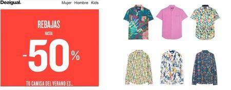 50% de descuento en camisas de Desigual para hombre con envío gratis incluido