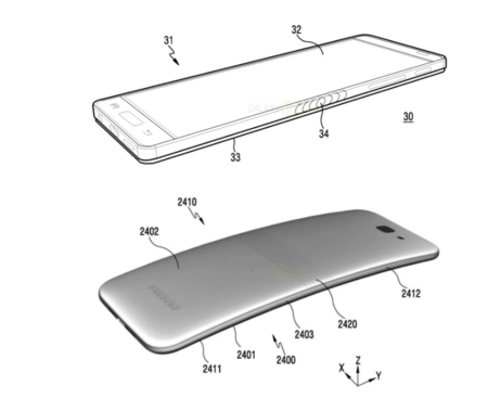 Cámara desmontable y pantalla flexible: la nueva patente de Samsung