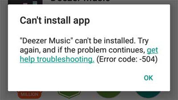 Error 504 Google® Play
