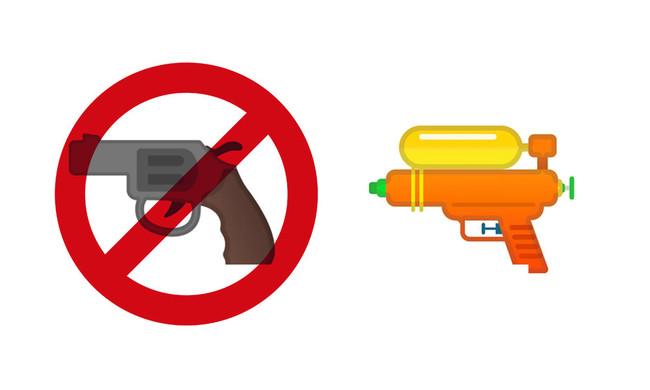 Emoji pistola de Google