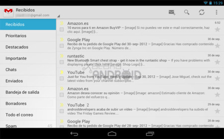 Gmail para tablets Android