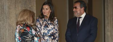 Doña Letizia apuesta por uno de los estampados más extremos hasta el momento: Sandro es la responsable