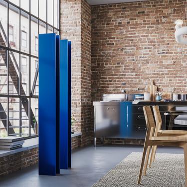 Una buena idea: radiadores de diseño en Classic blue