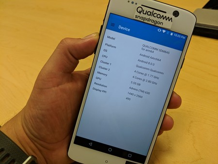Qualcomm Snapdragon 845 Benchmark Dispositivo