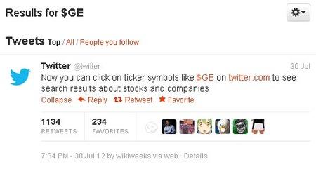 Cashtags, lo nuevo en Twitter