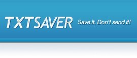 TXTSaver, otro block de notas online