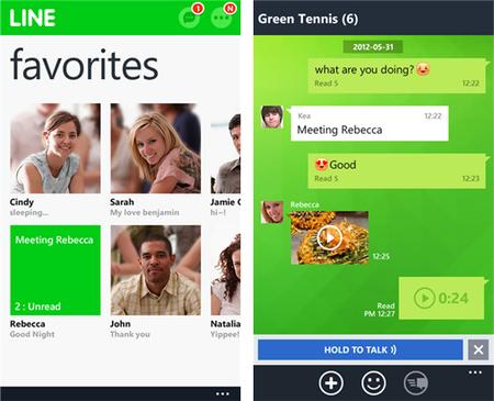 Line se actualiza, ahora ya es soportado por Windows Phone 8