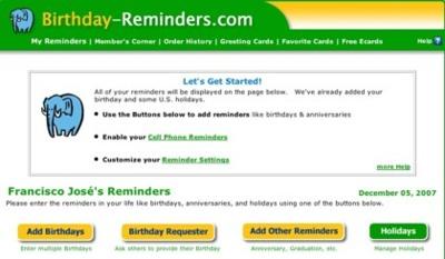 Birthday Reminders, y que no se nos olvide un aniversario más