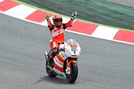MotoGP Catalunya 2011: sonrisas y lágrimas ante la victoria de Stefan Bradl