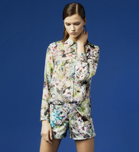 Zara flores lookbook febrero