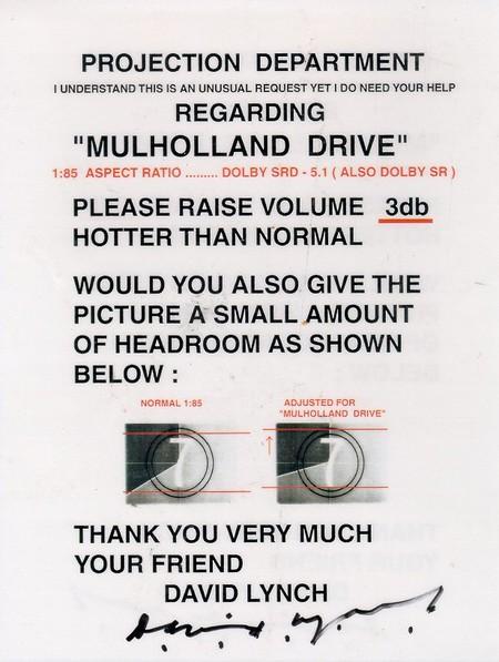 Mulholland Drive Memo